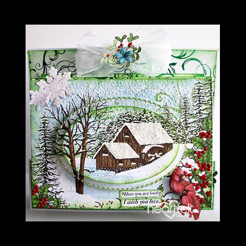 Woodland Winter Layered Book