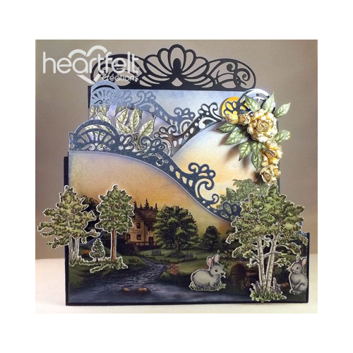 Woodsy Landscape Foldout Card