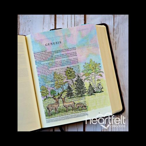 Woodsy Wonderland Journaling Bible Page