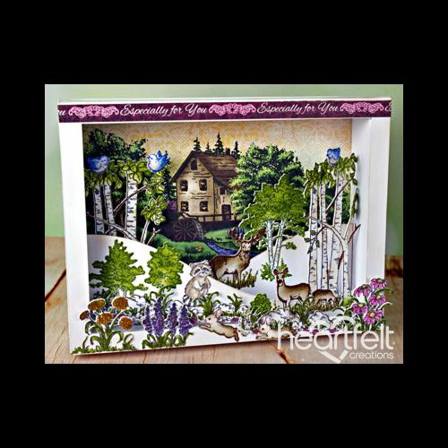 Woodsy Wonderland Shadow Box Scene