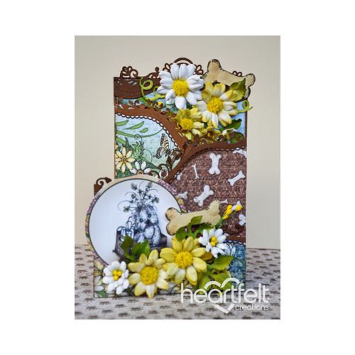 Yellow Daisies And Pooch Foldout Card