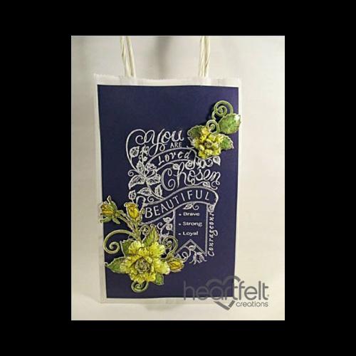Yellow Rose Chalkboard Gift Bag