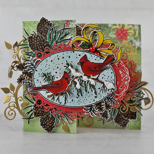 Z-Fold Snowy Cardinals