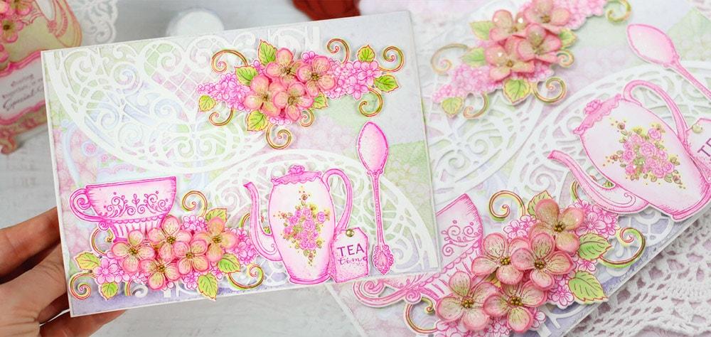 Agnek Create Christmas Papermania - Decorative Craft Paper Flowers