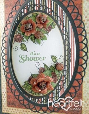 Botanical Floral Oval Shower Card