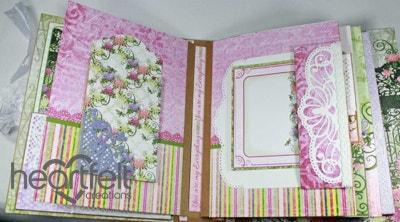 Pink Enchanted Mums Flip Fold Album