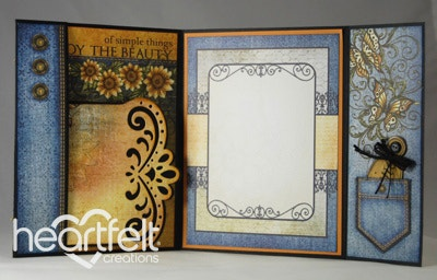 Sunflower Flip Fold Card