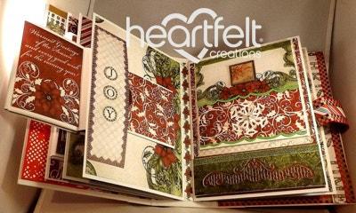 Sparkling Red Poinsettias Flip Fold Album