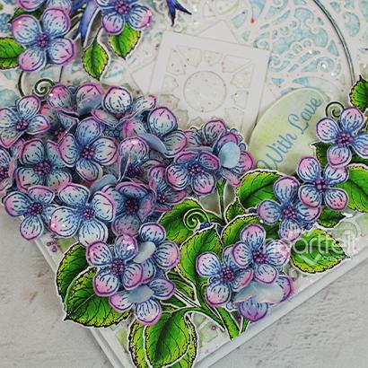 Hydrangea & Birdie Elegance -Patricia Manhire_2A