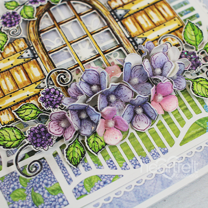 Hydrangea Window Easel Card -Heena Shaikh_1A